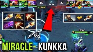 Miracle- EPIC Kunkka Double Rapier !Attacker Style - 30min Crazy Defense vs Megacreeps - Dota 2
