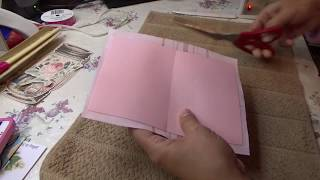How To Use Heat'n Bond to Apply Fabric on to your Cardstock or Journal