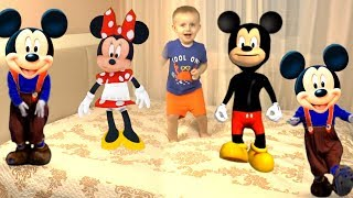 Five Little Mickey Mouse Jumping On The Bed Song | Nursery Rhyme for Children