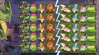 Plants Vs Zombies 2 Versión China Equipo Guisantralladora Vs Equipo Rabo De Gato