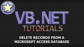 VB.NET Tutorial - Delete Records From A Microsoft Access Database