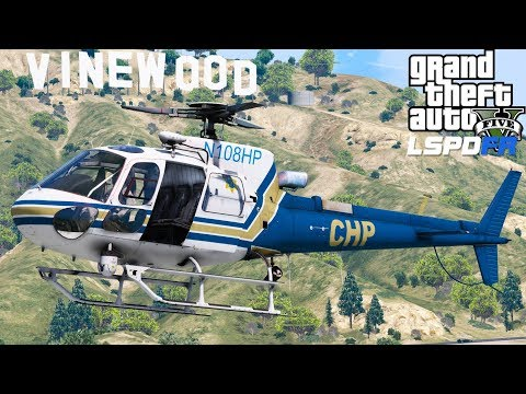 GTA 5 LSPDFR #529 Highlight | California Highway Patrol Helicopter Searching For Suspects On The Run