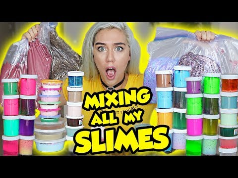 Thumbnail: MIXING ALL MY SLIMES!! GIANT SLIME SMOOTHIE! SATISFYING SLIME