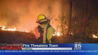 THURSDAY MORNING UPDATE:  Fires threaten Calistoga;  Nun Fire advances on Napa County Dry Creek Road