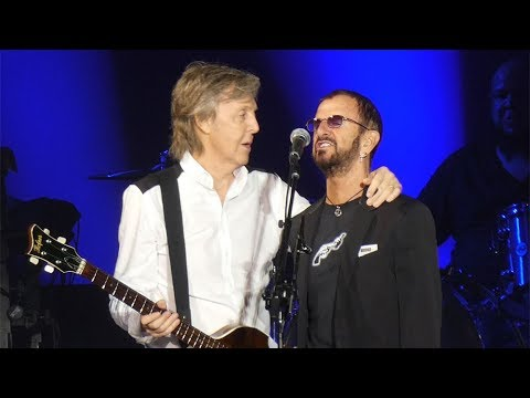 Ringo Starr Makes Surprise Appearance At Paul McCartney's Dodger Stadium Concert