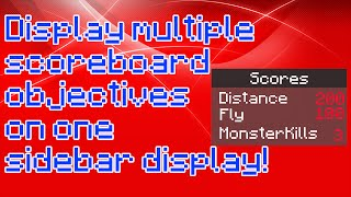 How to display multiple scores on one sidebar in vanilla!
