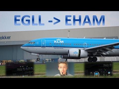 VATSIM: IFR Flight Example: London Heathrow to Amsterdam! - Friday Night Fly-In, 25-10-2013