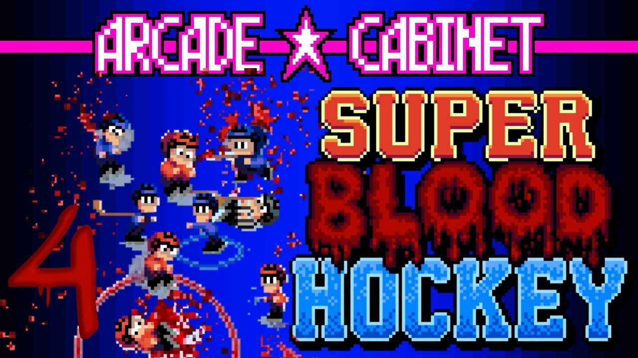 Arcade Cabinet - Super Blood Hockey 4 - Coach is wicked pissed, eh...