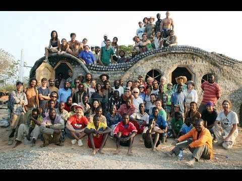 Malawi Flower Design Earthship Full Timelapse