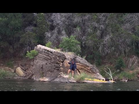 Brazos River Kayak Fishing . Palo Pinto Mountains