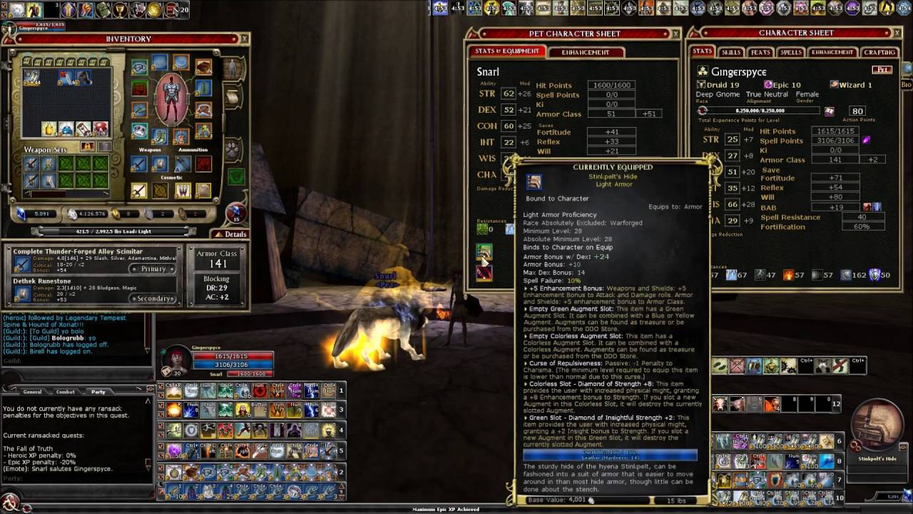 DDO - How to get 75 Strength on your druid's wolf