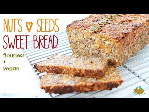 Nuts And Seeds Sweet Bread Recipe - Vegan