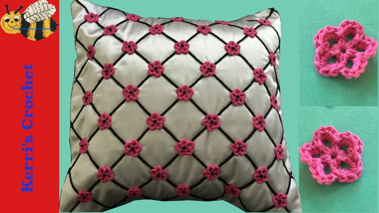 Crochet Flower Cushion Tutorial Youtube