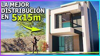 LA CASA CON LA MEJOR DISTRIBUCION EN 5X15m