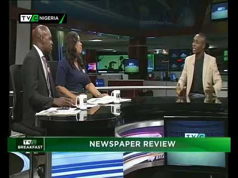 TVC Breakfast 15th January 2018 | Newspaper Review with Dotun Ojon