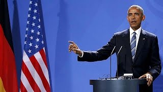 European leaders hold final meeting with Obama in Berlin