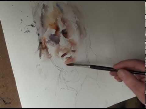Watercolour artists Pop singer by Roger Simpson