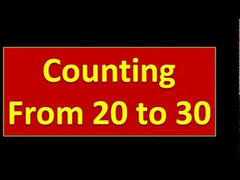 Counting From 20 To 30 || Nursery Kids
