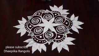 easy freehand rangoli designs - freehand muggulu