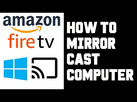 How To Cast Computer To Firestick - Screen Mirror Windows 10 PC Laptop To Firestick Amazon Fire TV