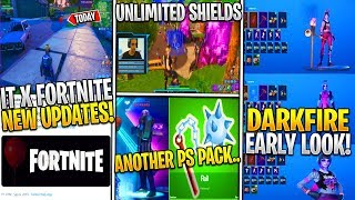 *NEW* Fortnite x IT New Updates! *Pleasant & MORE*, UNLIMITED Shield Exploit, Dark Fire EARLY & PS+