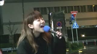 未来の歌姫 #すみれ #名古屋大曽根路上20190414 めっちゃ元気な23歳東名...