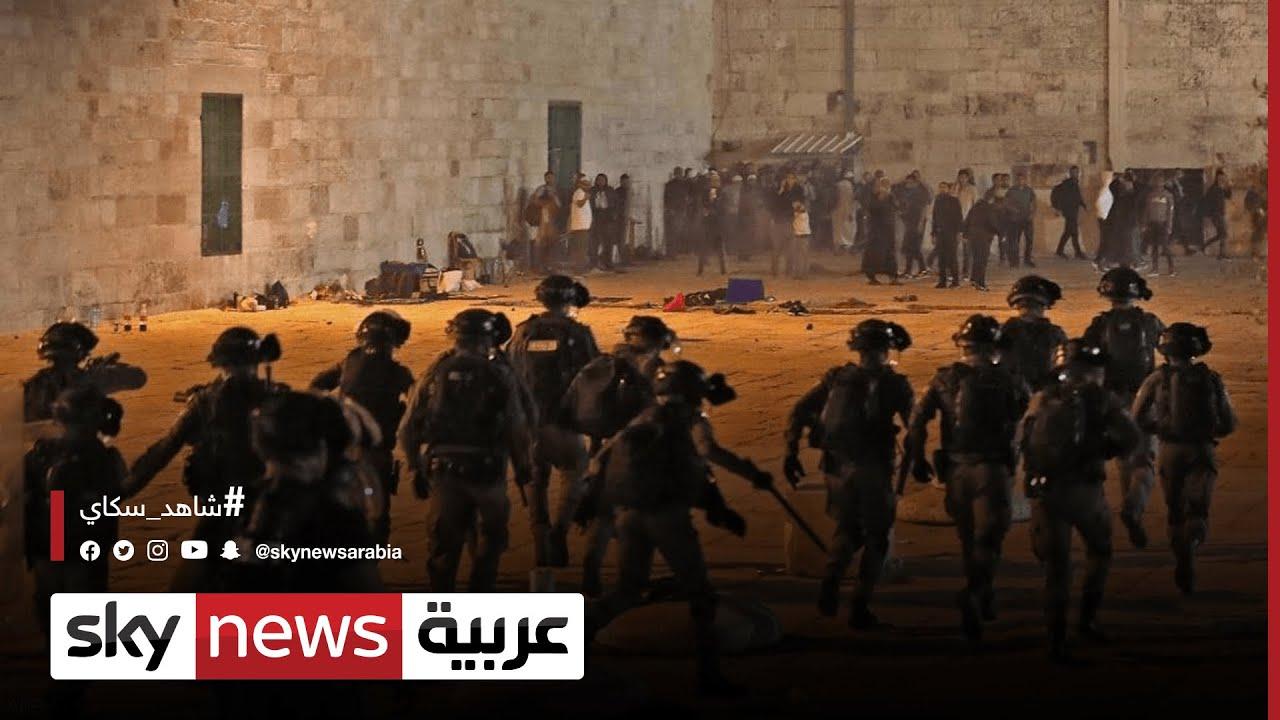 فلسطين وإسرائيل .. الشرطة الإسرائيلية تقتحم باحات المسجد الأقصى  - 12:58-2021 / 5 / 12