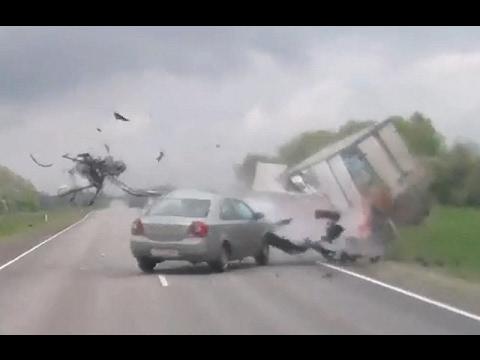 Terrible car crash compilation – Fatal Head On Collision