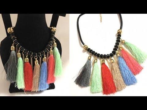 Multicolor Long Tassel Necklace | ZumZum Collection