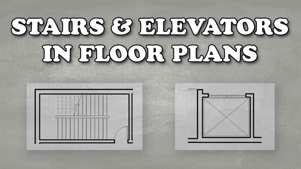 How To Draw Stairs And Elevators In Floor Plans Youtube