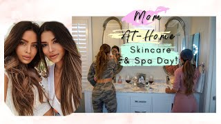 MOM AT HOME SPA DAY! PAMPERING SKINCARE ROUTINE WITH MY BESTIE