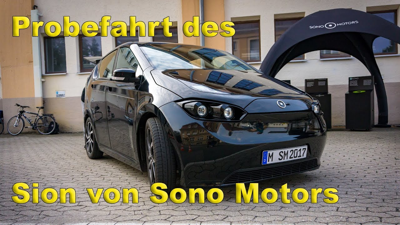 Sono Motors Sion Probefahrt Nürnberg ( Solar Elektroauto ) - YouTube