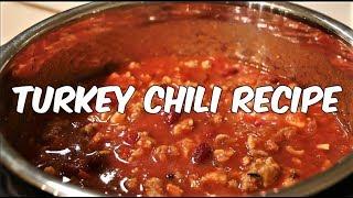 Healthy Turkey Chili Recipe - Meal Prep