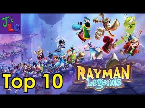 Top 10 - Rayman Legends Levels - JLG