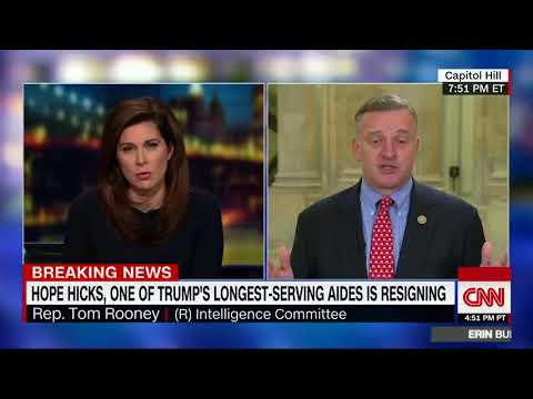 Tom Rooney Talks to Erin Burnett about Russia Investigation (2/28/2018)