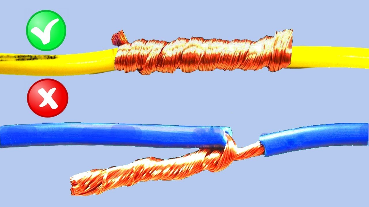 How To Twist Joint Electric Wire ther | AWESOME Idea Wiring Joint on