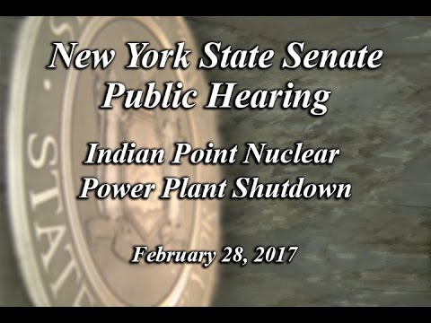 Joint Legislative Public Hearing: Indian Point Nuclear Power Plant Shutdown