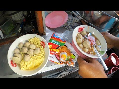 Jakarta Street Food 6055 Bakso Mie Goreng Indomie Cuma Rp.10.000 Enak Murah Pasar Enjo GX010511