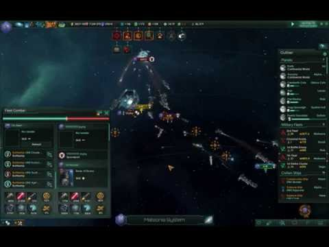 Big War in Stellaris game. |
