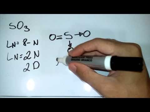 Notação de Lewis SO3, ligação quimica
