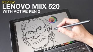 Artist Review: Lenovo Miix 520 with Active Pen 2