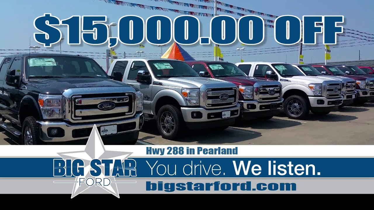 Commercial spot produced for big star ford in pearland texas