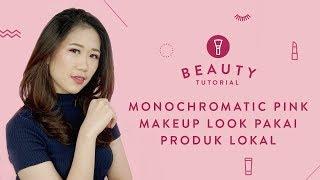 Monochromatic Pink Makeup Look Pakai Produk Lokal   Tutorial Mp3