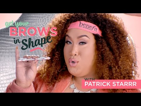 GET YOUR BROWS IN SHAPE w/ PATRICK STARRR | goof proof brow pencil