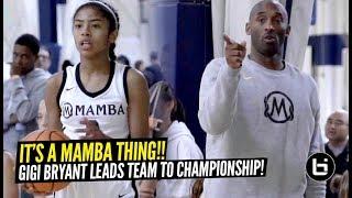 Kobe Bryant Coaches His Daughter Gigi & Mackenly Randolph To Championship Game!! LADY MAMBAS!!!