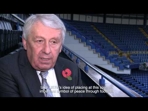 WW1 Christmas Truce Press Conference with UEFA in  London on 12 November 2014