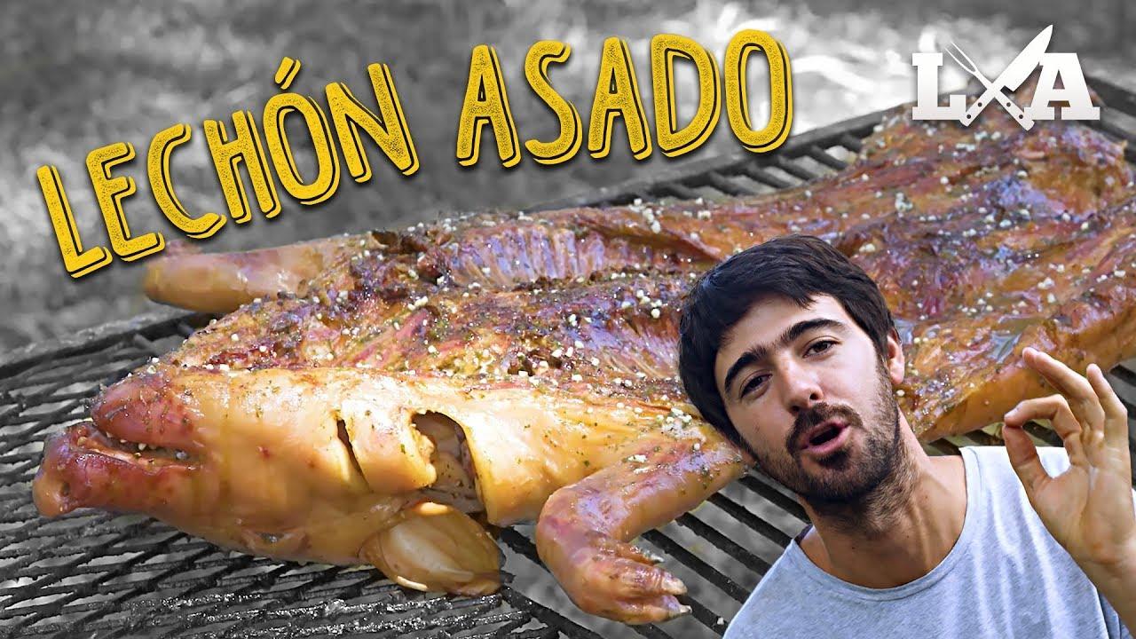 Lechon asado a la parrilla receta de locos x el asado - Parrilla de la vanguardia ...