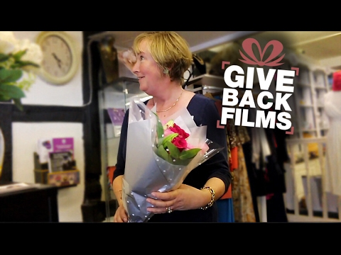 Giving Flowers to Charity Shop Workers | Give Back Films