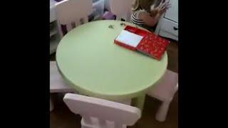 Ikea Mammut Kids Table And Chairs, Stolik Dziecięcy Z Krzesełkami ( Stół Plus Krzesła )