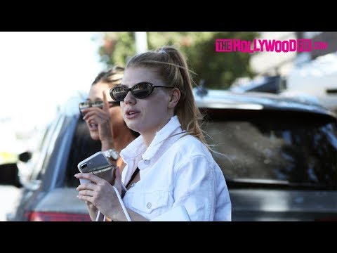 Charlotte McKinney Goes Shopping With A Friend At L'agence On Melrose Place 10.10.17